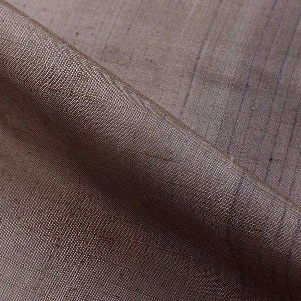 紬 正絹 着物 きもの ぼかし グレー 和装 リサイクル レディース 【中古】和服