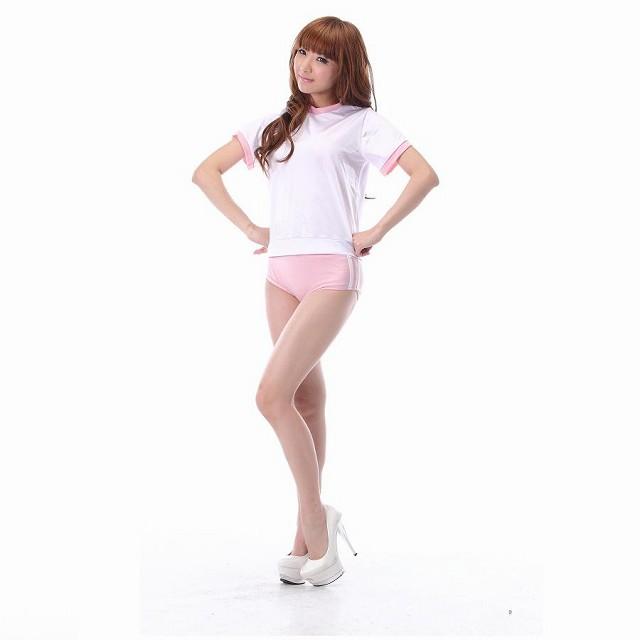 コスプレ 制服 体操服 ブルマ 女子高生 ハロウィン コスチューム 衣装 白 ピンクブルマ costume コスプレ衣装 大人 コス こすぷれ 通販