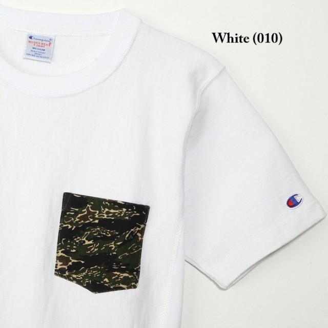チャンピオン リバースウィーブ 半袖 ポケット付き クルーネック Tシャツ 定番 ベーシック Champion Reverse Weave Crew Neck S/S TShirt