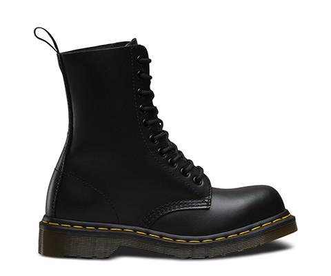 ドクターマーチン 日本正規品 ブラック 黒 10ホール ブーツ BLACK FINE HAIRCELL1919 スチールトゥ