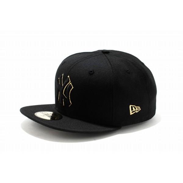 ニューエラ NEWERA カスタム 59FIFTY MLB ニューヨーク・ヤンキース ブラック × ブラック ゴールドアウトライン