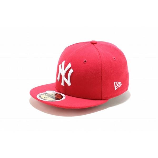 ニューエラ NEWERA キッズ 子供 Kid's 59FIFTY ニューヨーク・ヤンキース ブライトローズ × ホワイト