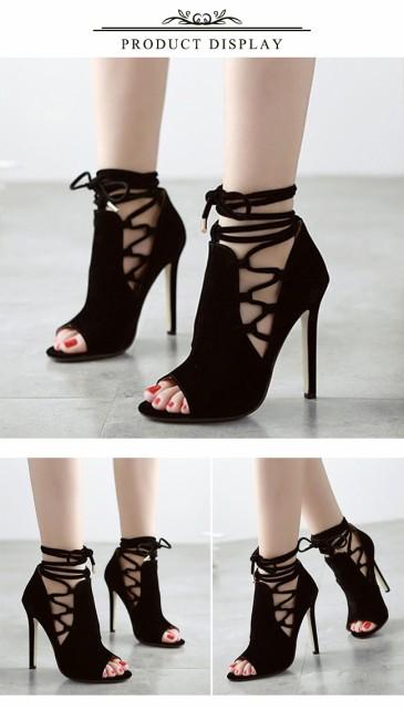サンダル レディース ストラップサンダル ハイヒール ピンヒール 靴 シューズ 美脚 歩きやすい 結婚式 パーティー