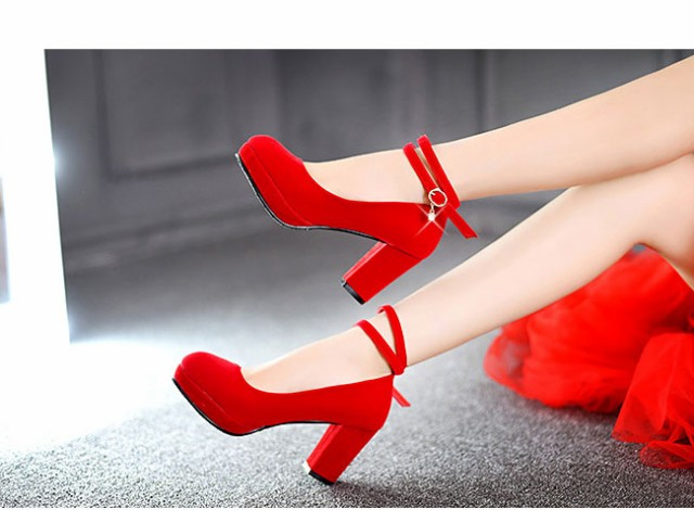 女性靴 レディース パンプス 太ヒール ハイヒール プレーン ラウンドトゥ スエード お洒落 ファッション 通勤 脚長効果 大きいサイズ