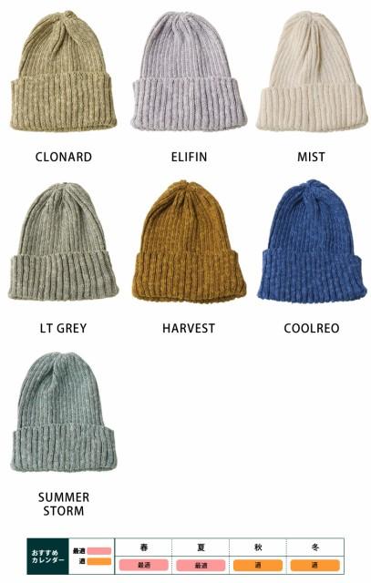 HIGHLAND2000 ( ハイランド2000 ) ボビィーキャップ リネン ソリッド ニットキャップ ニット帽 帽子