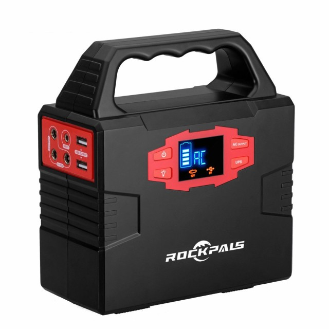 Rockpals ポータブル電源 家庭用蓄電池 3WAYシステム UPS機能付き 【40800mAh/150Wh】 DC/AC/usb 持ち運びやすい 1.4キロ 停電/震災など