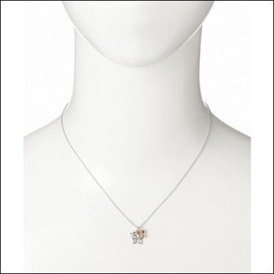 アナスイ ダイヤモンド付バタフライモチーフネックレス