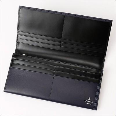 LANVIN ランバン 正規品 LANVIN en Bleu ヴォー 長財布 ブラック
