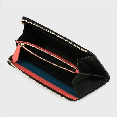 ポールスミス ポール・スミス 正規品 No.9マルチカラーインテリア ラウンドジップ長財布 ブラック