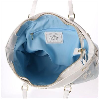 サマンサベガ フラワー刺繍デニムトートバッグ デニムブランシュ ライトブルー