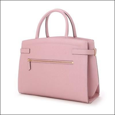 サマンサタバサ ベルト付きトートバッグ 大 ピンク