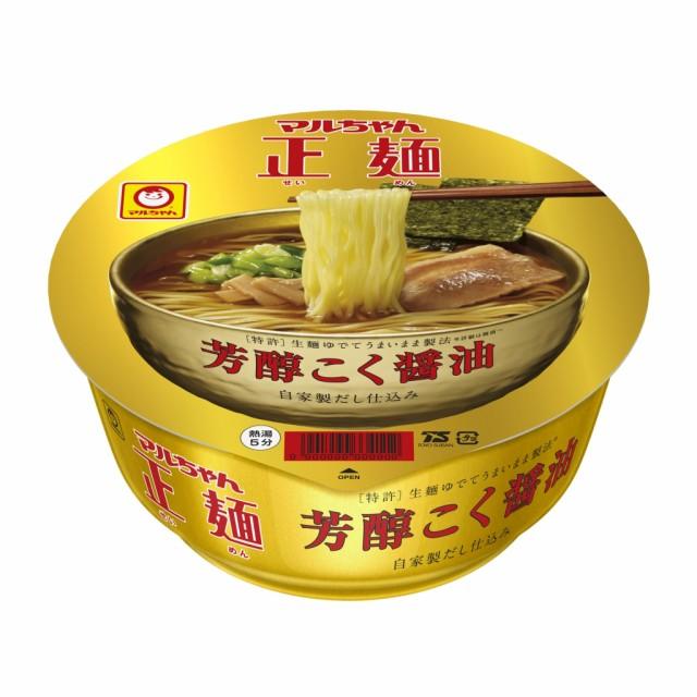 マルちゃん正麺カップ 芳醇こく醤油 12食入り×1ケース