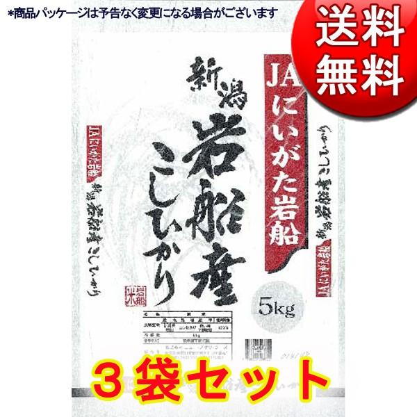 新潟県産 岩船こしひかり JAにいがた岩船産地指定米 5kg×3 (計15kg) 【直送品】【送料無料】