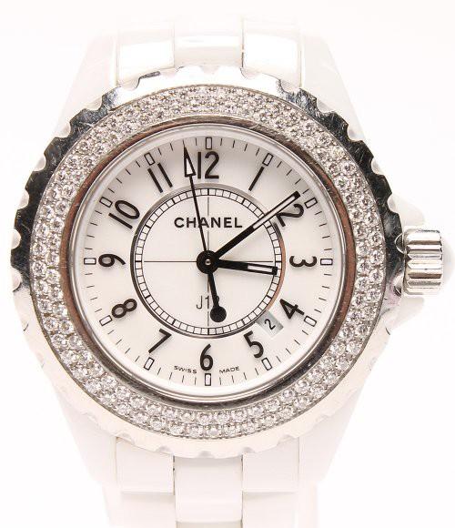 finest selection f6caf dc5a9 シャネル 腕時計 J12 ホワイトセラミック H0967 クオーツ CHANEL レディース 【中古】