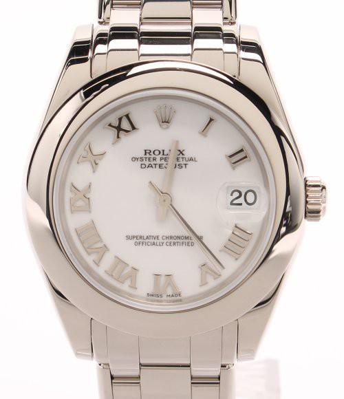 new product 12840 4a181 ロレックス 腕時計 k18WG デイトジャスト・パールマスター 自動巻き 81209 ユニセックス ROLEX 中古