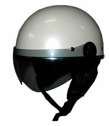 【取り寄せ品】シールド付き ビンテージヘルメット KV-41S バイク用 パールホワイト