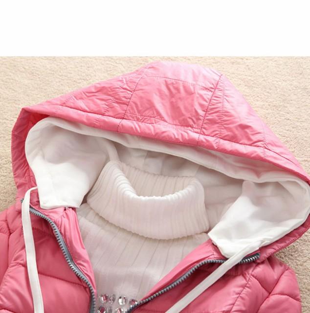 レディース服 女性 大人 冬服 コート アウター ダウンコート ダウンジャケット 細身 無地 シャーベットカラー 帽子