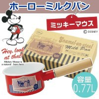 ミッキー ホーローミルクパン EMP8 POS.275432 【送料無料】(ミルクパン、片手鍋、ホーロー鍋、調理器具)
