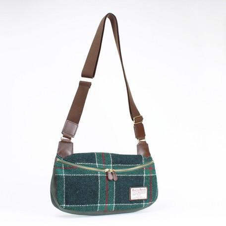 【日本製】ハリスツィード ななめがけボディバッグ (A222) 【送料無料】 (ショルダーパック、バッグ、ハンドバッグ、かばん,鞄)