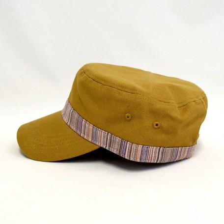 キャンバス 帯切替 ワークキャップ 全2色【送料無料】(帽子、キャップ、ファッション小物)