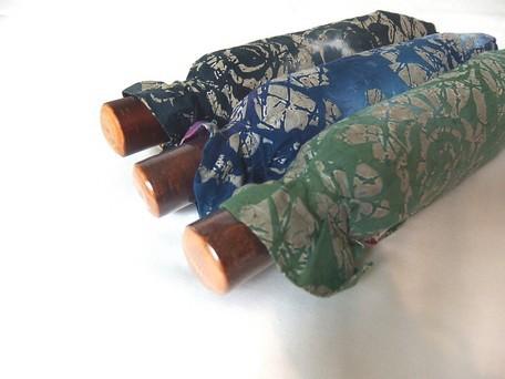 【日本製晴雨兼用傘】折りたたみ傘 晴雨兼用 UVケア加工 綿柿渋染め(27-2253-16)【送料無料】 (アンブレラ、雨傘、日傘、折りたた