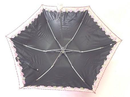 【晴雨兼用】ポンジー1級遮光オーガン切り継ぎ多頭 ミニ傘 6本骨 (27-8819-15) 【送料無料】 (アンブレラ、雨傘、日傘、折りたたみ