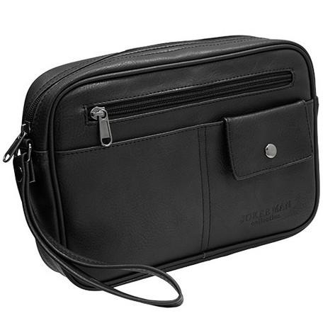 アンティーク シンプル セカンドバック《ブラック ブラウン》 MKC-02【送料無料】(メンズポーチ、セカンドバッグ、カバン、