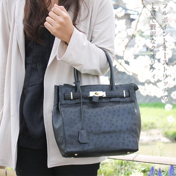オーストリッチ フルポイント ハンドバッグ【604】【送料無料】(手提げバッグ,カバン,かばん,トートバッグ)