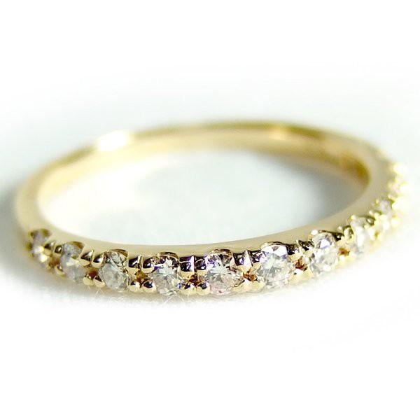 激安人気新品 リング ハーフエタニティ イエローゴールド ダイヤモンド 指輪 0.3ct 送料無料! 12号 K18 ハーフエタニティリング-指輪・リング