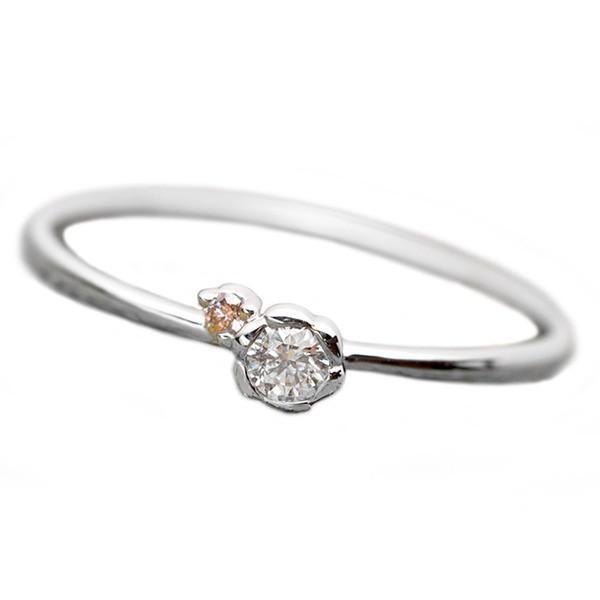 新品入荷 Pt950 プラチナ 指輪 ピンクダイヤ ダイヤ ダイ フラワーモチーフ 11.5号 リング 合計0.06ct 花 ダイヤモンド-指輪・リング