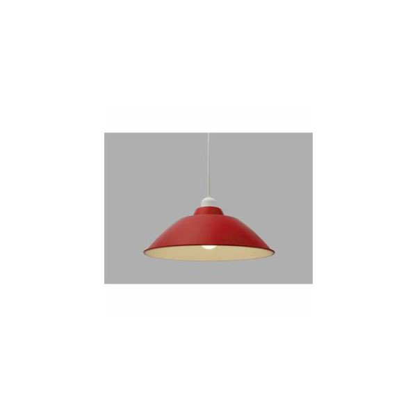 アイリスオーヤマ LEDペンダントライト LED電球セット Gammel Plas ホーロー調 Mサイズ レッド PL8LE26
