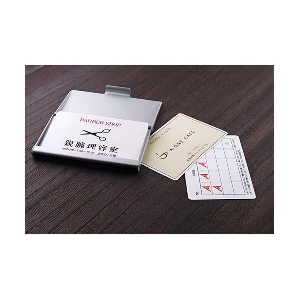 (10シート) A4判 (まとめ) マルチカード各種プリンタ兼用紙 エーワン 白無地 51165 1冊 【×30セット】 10面 キャッシュカードサイズ