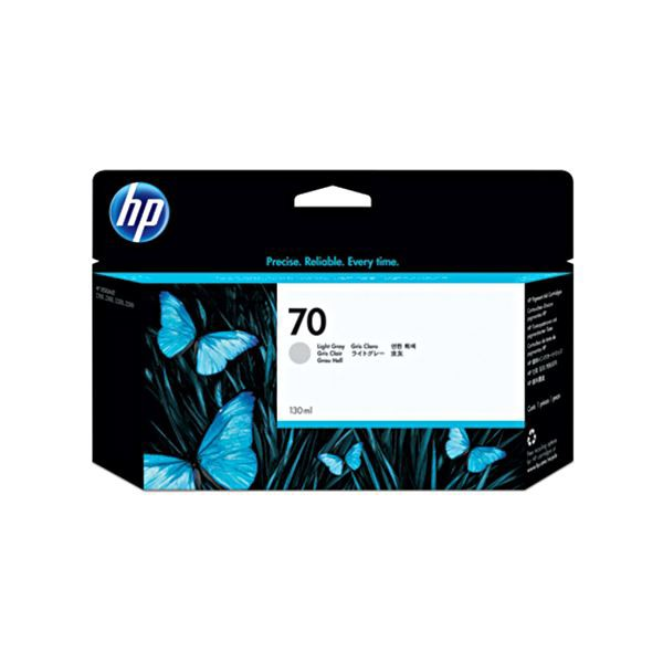 【お気に入り】 C9451A 130ml 1個 HP70 ライトグレー (まとめ) インクカートリッジ 【×10セット】 顔料系-プリンター・インク