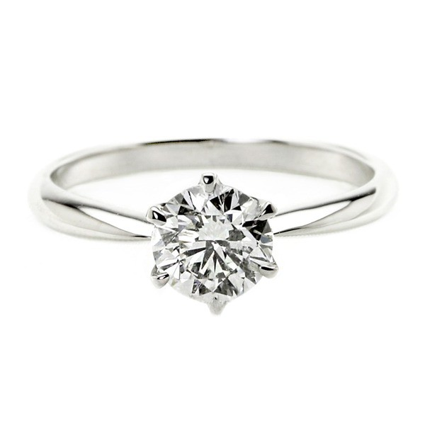 【期間限定お試し価格】 ダイヤモンド リング 一粒 1カラット 13号 プラチナPt900 Hカラー SI2クラス Good ダイヤリング 指輪 大粒, 宝石のエンジェル 0183ddb3