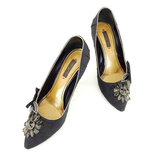 ルイ ヴィトン Louis Vuitton パンプス シューズ 靴 レディース フラワーモチーフ 【中古】 T6988|au Wowma!(ワウマ)