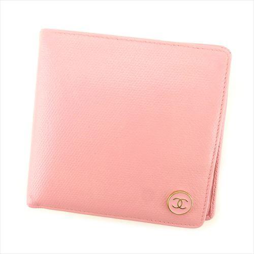 6b01e7b255f8 シャネル CHANEL 二つ折り 財布 小物 財布 サイフ レディース ココボタン 【中古】 T7725