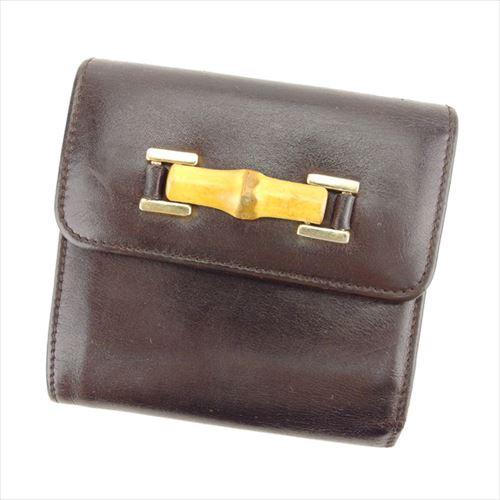 6d12613d701f グッチ GUCCI 三つ折り 財布 小物 財布 サイフ がま口 レディース メンズ バンブービット 【中古】