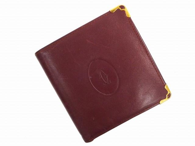 99ce7d6809d6 カルティエ Cartier 二つ折り財布 財布 小物 サイフ メンズ 【中古】 U1114
