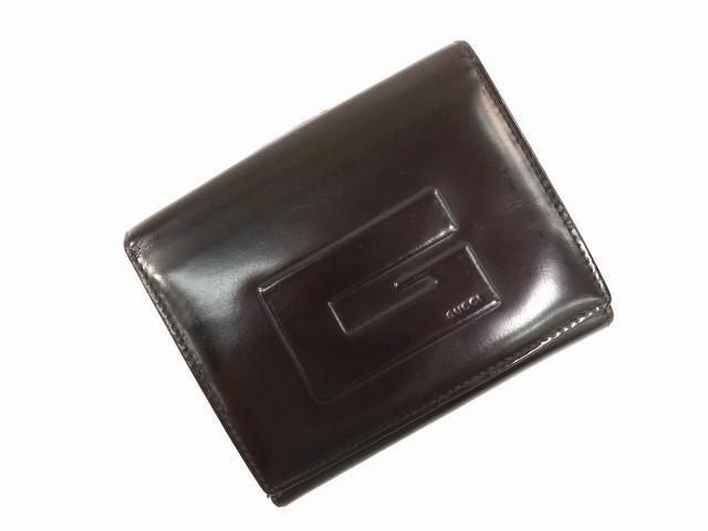 65293524fd85 グッチ GUCCI 二つ折り財布 財布 小物 サイフ Wホック財布 レディース Gマーク 【中古