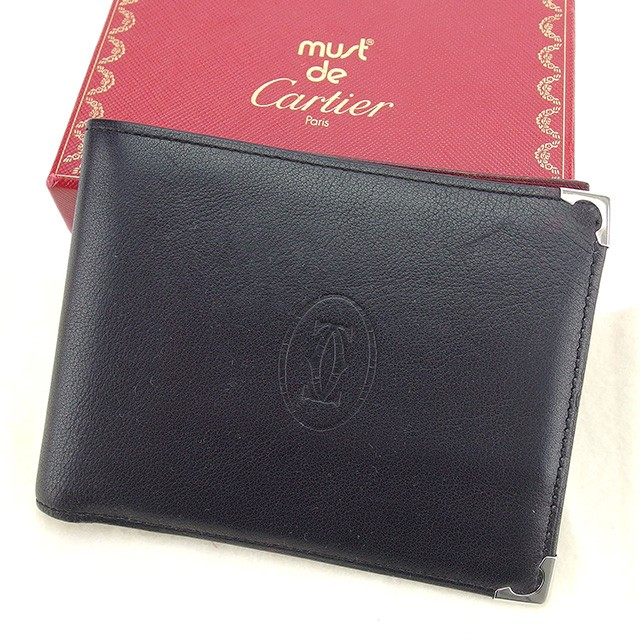 8cbc1bb87875 カルティエ Cartier 二つ折り財布 財布 小物 サイフ メンズ可 カボション 【中古】 T902