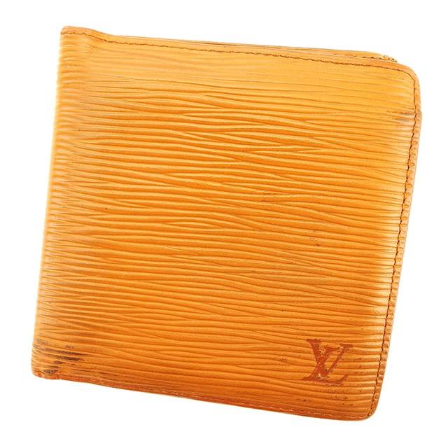 sale retailer 95459 befe9 ルイ ヴィトン Louis Vuitton 二つ折り 財布 小物 財布 サイフ レディース メンズ 可 エピ 【中古】 T2836|au  Wowma!(ワウマ)