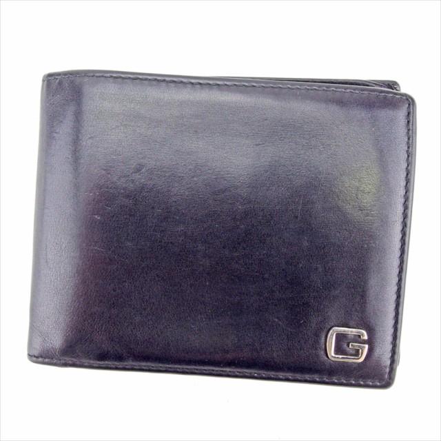 66c4c096a2e6 グッチ GUCCI 二つ折り 財布 小物 財布 サイフ メンズ Gマーク 【中古】 T4219