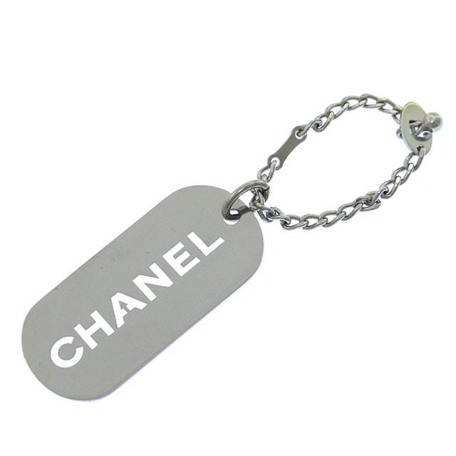 0189bd00cc08 シャネル CHANEL キーホルダー チャーム レディース ロゴ型抜きプレート 【中古】 Y1185