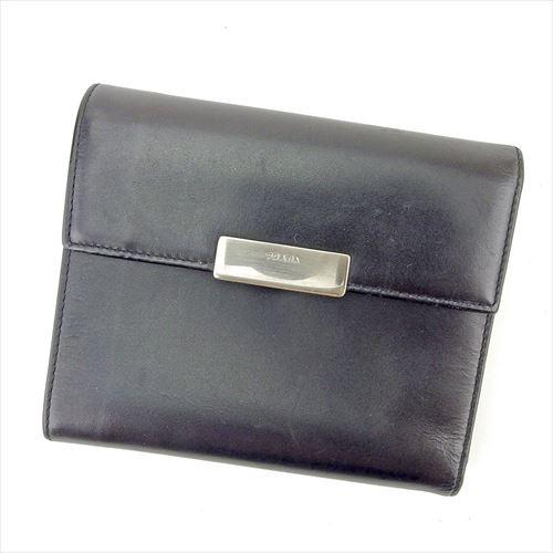 2de76d81e89c プラダ PRADA 二つ折り 財布 小物 財布 サイフ 中長財布 レディース メンズ 可 ロゴプレート