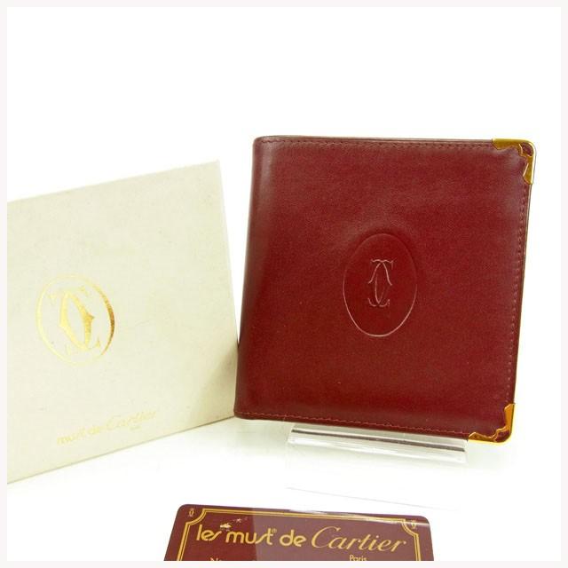 4310e6ead557 カルティエ Cartier 二つ折り財布 財布 小物 サイフ メンズ可 マストライン 【中古】 Y5658