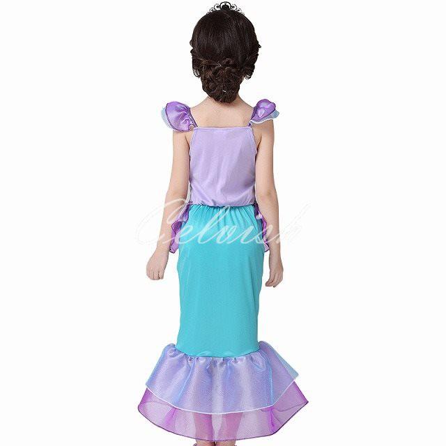 ba9d8edb1ba48 送料無料 リトルマーメイド アリエル風人魚姫 プリンセスドレス 子供 ドレス ディズニー 衣装 C-