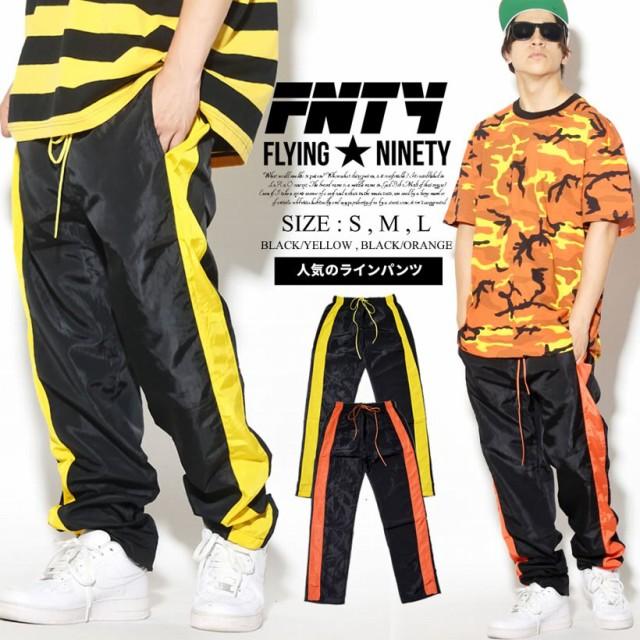 トラックパンツ メンズ ジャージ パンツ サイド ライン ストリート系 ヒップホップ ファッション FLYING NINETY フライングナインティ