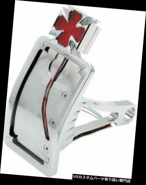 最愛 バイク テールライト DSマルタ十字LEDテールライトw /縦型ライセンスフレームハーレーダビッドソン DS Maltese Cross LED Taillight w/, 下都賀郡 7a7c7a73