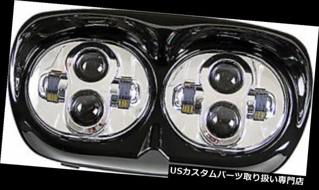 お歳暮 バイク ヘッドライト PATHFINDERロードグライドLEDヘッドライトクロームHRGLEDAC PATHFINDER Road Glide LED Headlights Chrome HRGLED, ゼンオンライン bc114c5a