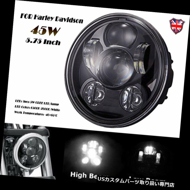 "Cree 5.75/"" 5 3//4 LED Headlight Black Projector DRL For Harley Davidson"